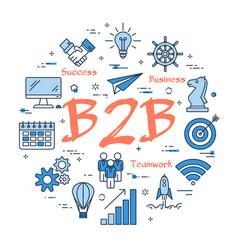Blue concept of b2b vector