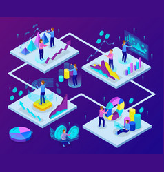 business analytics isometric concept vector image