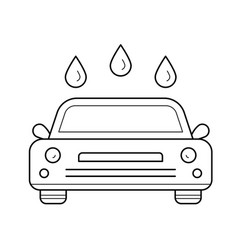 Car wash line icon vector