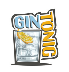 cocktail gin tonic vector image