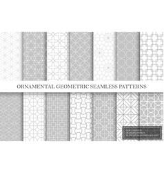 Collection repeatable geometric ornamental vector