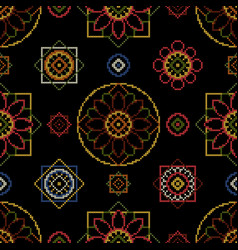 cross stitch blankets vector image