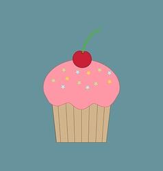 Cupcake dessert icon vector