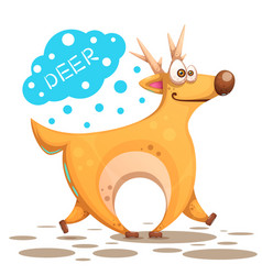 cute deer - cute crasy vector image