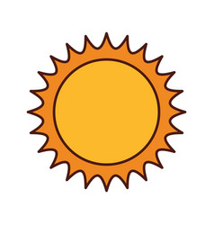 Cute sun isolated icon vector