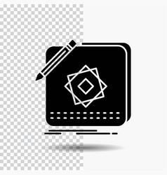 design app logo application design glyph icon on vector image