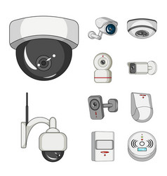 design of cctv and camera logo collection vector image
