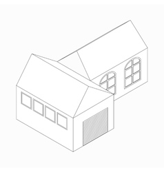 Detached house icon isometric 3d style vector image