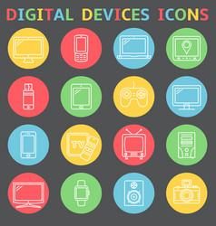device outline icons vector image