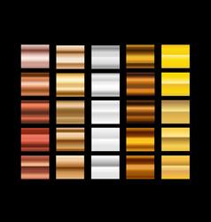different metal gradients clip-art vector image