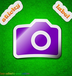 Digital photo camera icon sign Symbol chic colored vector image