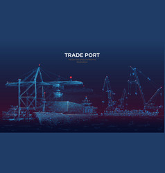 Digital trade port vector