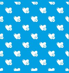dislike pattern seamless blue vector image