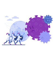 doctors knights protect earth from coronavirus vector image