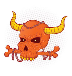 Dying abomination skull vector