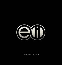 Ei initial letter linked circle capital monogram vector