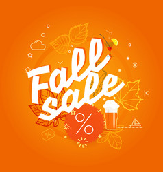 Fall sale season sale concept vector