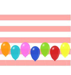 festive mood design on striped background vector image