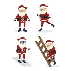figures set santa claus isolated icon design vector image