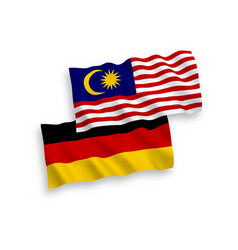 Flags malaysia and germany on a white vector