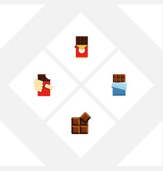 Flat icon chocolate set of shaped box bitter vector