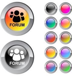 Forum multicolor round button vector
