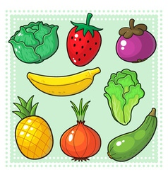 Fruits and Vegetables 03 vector