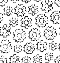 Gears pattern vector image vector image