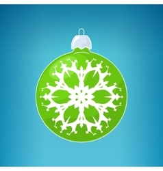 Green Ball with Snowflake vector image