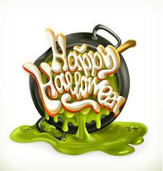 happy halloween 3d icon vector image