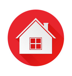Home red icon symbol of residential house vector