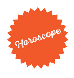 Horoscope stamp on white vector