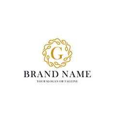 Initial letter g luxury ornament logo design vector