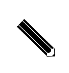 Isolated wooden pencil vector image