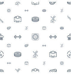 isometric icons pattern seamless white background vector image
