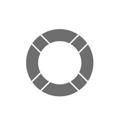 Lifebuoygrey icon isolated on white vector