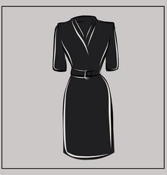 little black dress basic wardrobe vector image