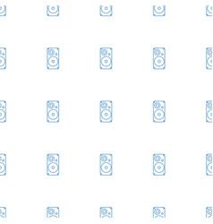 Loudspeaker icon pattern seamless white background vector