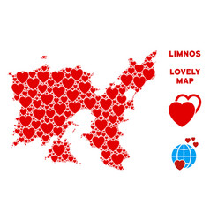 Love limnos greek island map composition of vector