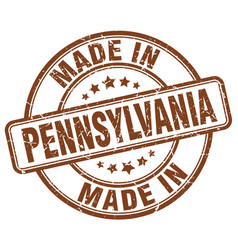 Made in pennsylvania brown grunge round stamp vector