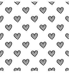 new heart pattern seamless vector image