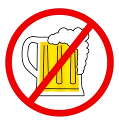 No beer sign vector