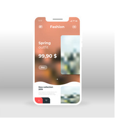 Online fashion spring collection sale ui ux gui vector