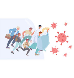 People doctor provide virus protection together vector