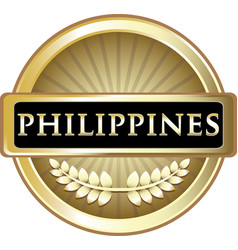 philippines gold icon vector image