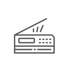 Printer scanner copier line icon vector