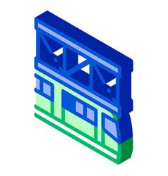 Public transport suspention railway isometric icon vector