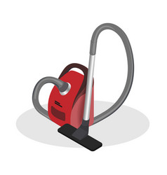 realistic vacuum cleaner isometric vector image