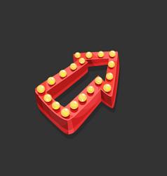red arrow vector image