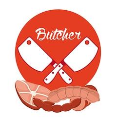 seal butcher vector image